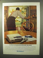 1964 Dictaphone Time-Master Dictation Machine Ad