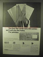 1964 Xerox Microfilm Ad - You Buy The Cards