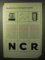 1964 NCR EDP System Ad - In Total System Capability