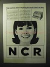 1964 NCR Universal Teller Machine Ad - She'll Do That
