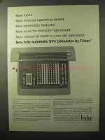1964 Friden SVJ Calculator Ad - Operating Speed
