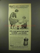 1964 Lysol Disinfectant Ad - Destroy Household Germs