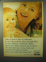 1964 Ivory Soap Ad - Take it From a Pair of Redheads
