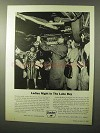 1964 Sinclair Oil Ad - Ladies Night In The Lube Bay