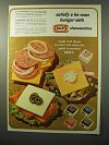 1964 Kraft Cheese Slices Ad - Satisfy a He-Man Hunger