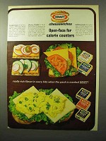 1964 Kraft Cheese Slices Ad - Open-Face for Calorie