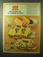 1964 Kraft Cheese Slices Ad - Top the Honor Roll