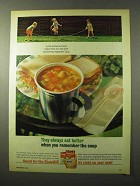 1964 Campbell's Soup Ad - They Always Eat Better