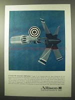 1964 Allison T78 Turboprop Engine Ad - ASW Power