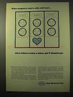 1964 Airco Air Reduction Ad - Computers Need Cold Heart