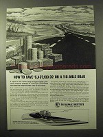 1964 The Asphalt Institute Ad - Save on a 118-Mile Road