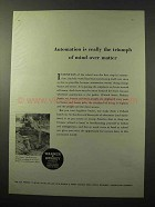 1964 Warner & Swasey Hopto 500 Hydraulic Backhoe Ad - Automation