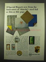 1964 United States Steel Ad - Foil Thin As This Page