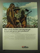 1964 Olin Winchester Model 70 Rifle Ad - How Further?