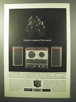 1964 Sony 500-A Stereophonic Tape System Ad - Lyric