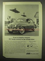 1964 Saab Car Ad - If You're Shopping Compacts