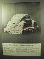 1964 Volkswagen Bug Beetle Car Ad - Start From Scratch