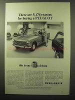 1964 Peugeot 404 Sedan Ad - 5,174 Reasons for Buying