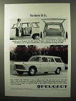 1964 Peugeot 404 Station Wagon Ad - So Here It Is