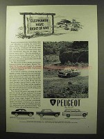 1964 Peugeot 403, 404, Station Wagon Ad - Elephants