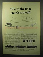 1964 Peugeot 403, 404, 404 Station Wagon Ad - The Trim