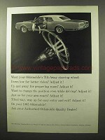 1965 Oldsmobile Car Ad - Tilt-Away Steering Wheel