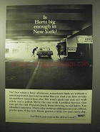 1964 Hertz Rent a Car Ad - Big Enough in New York?