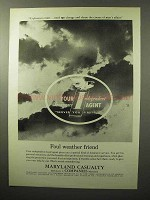 1964 Maryland Casualty Insurance Ad - Foul Weather