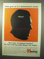 1964 Glens Falls Insurance Ad - In a Businessman's Mind