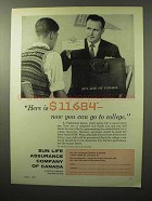 1964 Sun Life Assurance Company of Canada Ad - College