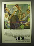 1964 USF&G Insurance Ad - Stays After School