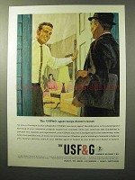 1964 USF&G Insurance Ad - Keeps Doctor's Hours