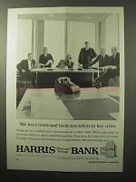 1964 Harris Trust and Savings Bank Ad - Specialists
