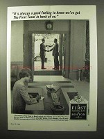 1964 The First National Bank of Boston Ad - In Back