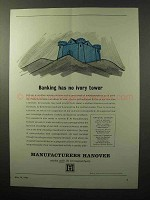 1964 Manufacturers Hanover Bank Ad - No Ivory Tower