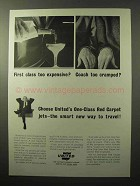 1964 United Airlines Ad - First Class Too Expensive?