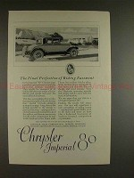 1926 Chrysler Imperial 80 Car Ad - Final Perfection!