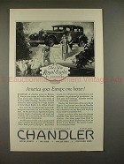 1927 Chandler Royal Eight Car Ad - Goes Europe Better!