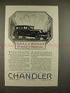 1928 Chandler Car Ad - Styled for the Boulevards!!