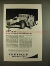 1928 Chrysler Imperial 80 Car Ad - Most Powerful Car!!