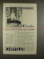 1930 Chrysler 77 Town Sedan Car Ad - Proves What It Is!