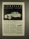 1931 Chrysler Eight Coupe Car Ad - Silent Swift Smooth!