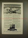 1943 WWII Buick B-24 Liberator Bomber Ad, Pursuit Axis!