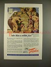 1943 WWII Body by Fisher Sherman M-4 Tank Ad - Better!!