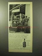 1964 Jack Daniel's Whiskey Ad - Sprucing Up