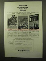 1964 Lufthansa Airlines Ad - New Pick-a-Tour Program