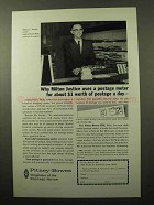 1964 Pitney-Bowes DM Postage Meter Ad - Milton Justice