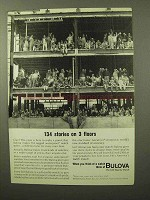 1964 Bulova Watches Ad - 134 Stories on 3 Floors