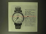 1964 Bulova Accutron Watch Ad - All The Parts
