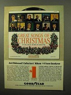 1964 Goodyear Great Songs of Christmas Album Ad